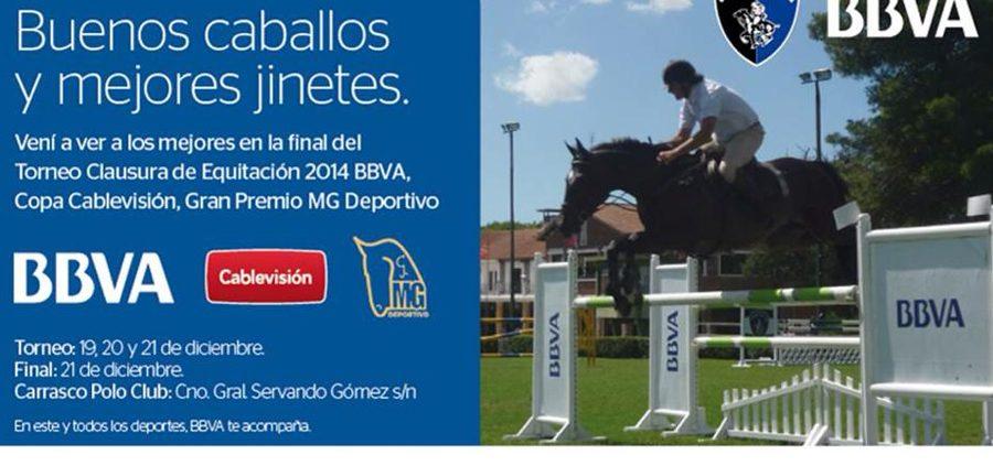 Apoyando la final del Torneo Clausura de Equitación 2014